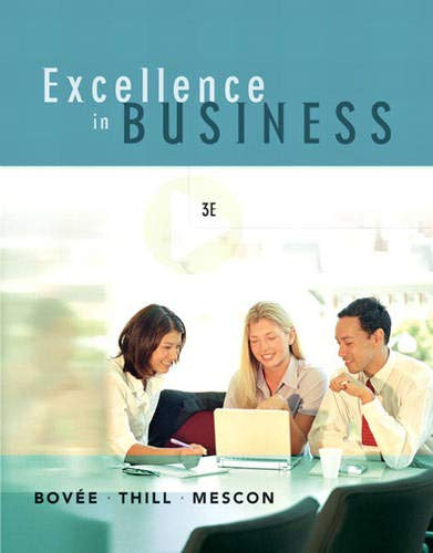 9780131870475: Excellence in Business (3rd Edition)
