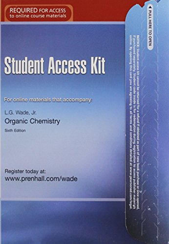 9780131872479: Student Access Kit: For Online Materials That Accompany Organic Chemistry, 6th Edition