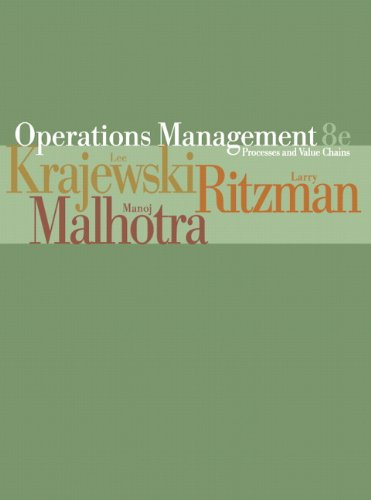 9780131872943: Operations Management Processes and Value Chains