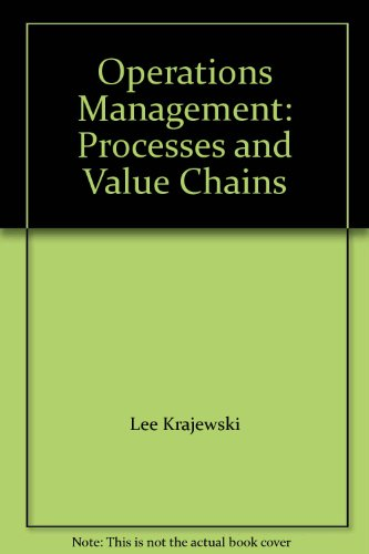 9780131873049: Operations Management: Processes and Value Chains