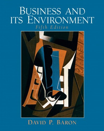 Business and Its Environment: Baron, D.P.
