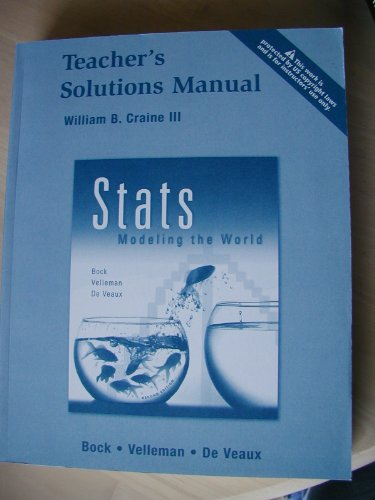 9780131876248: Stats Modeling the World Teacher's Solutions Manual