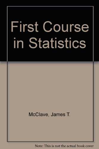 9780131876293: First Course in Statistics (9th International Edition)