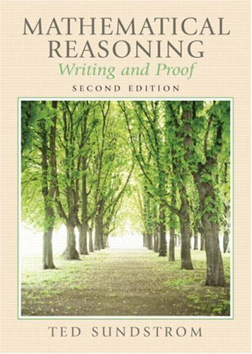 9780131877184: Mathematical Reasoning: Writing and Proof (2nd Edition)