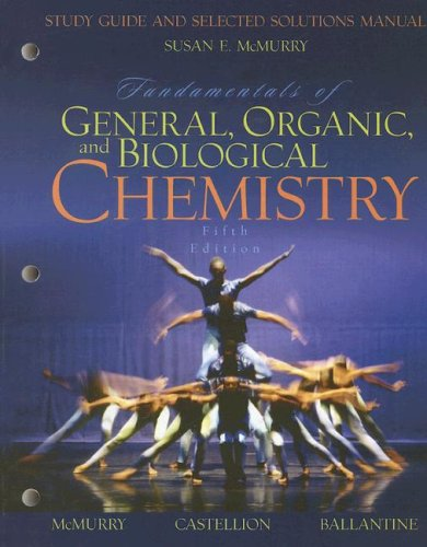 9780131877498: Study Guide and Selected Solutions Manual for Fundamentals of General, Organic, and Biological Chemistry