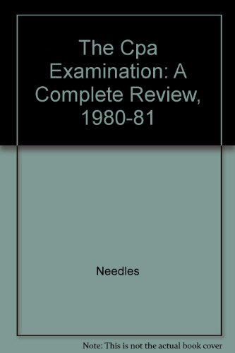 9780131878150: The Cpa Examination: A Complete Review, 1980-81