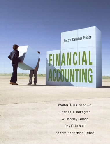 9780131879294: Financial Accounting, Second Canadian Edition