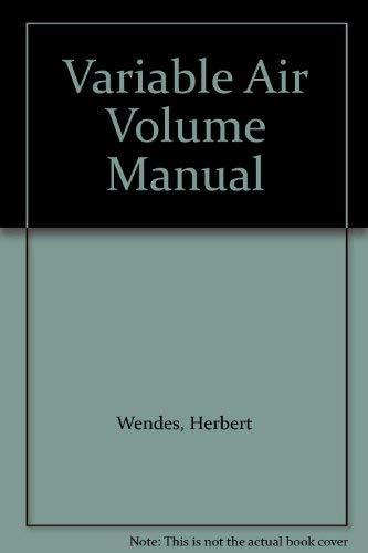 9780131880047: Variable Air Volume Manual