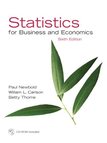 9780131880900: Statistics for Business and Economics, 6th Edition