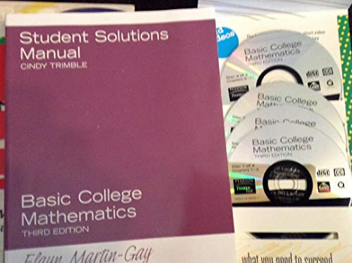 9780131881068: Basic College Mathematics: Student Solutions Manual