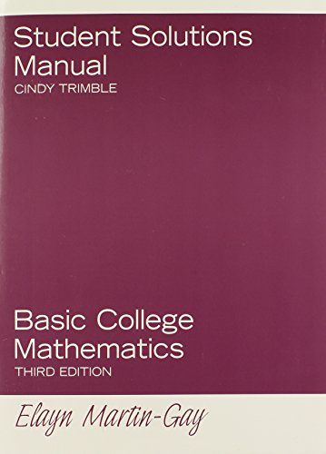 9780131881075: Student Solutions Manual for Basic College Mathematics