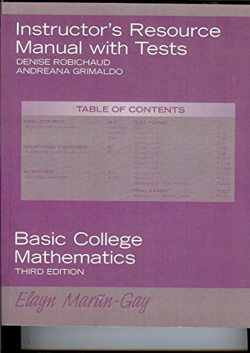9780131881136: Inastuctor's Resourced Manual Third Edition