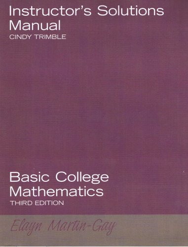 9780131881150: Instructor's Solution Manual: Basic College Mathmatics
