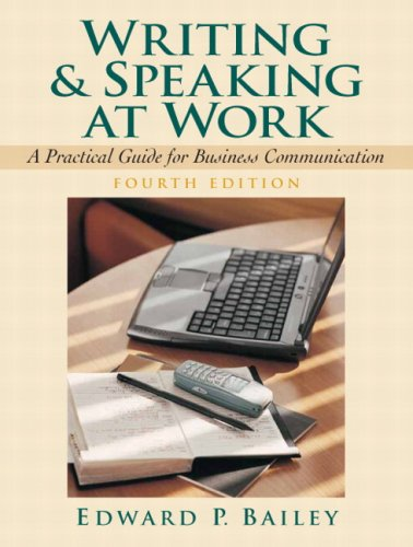 9780131881303: Writing and Speaking at Work: A Practical Guide for Business Communication (4th Edition)
