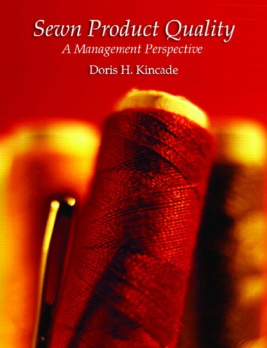 9780131886476: Sewn Product Quality: A Management Perspective