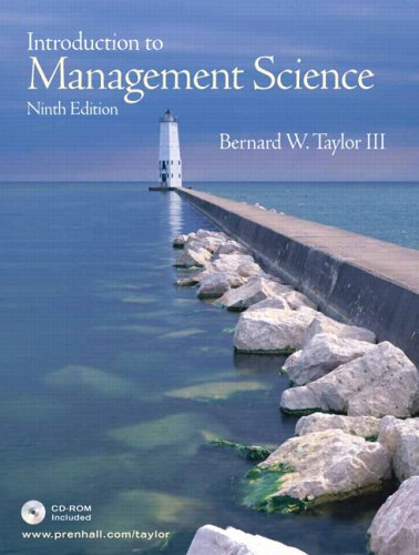 9780131888098: Introduction to Management Science, 9th Edition (Book & CD-ROM)
