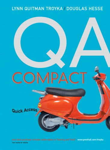 9780131889569: QA Compact
