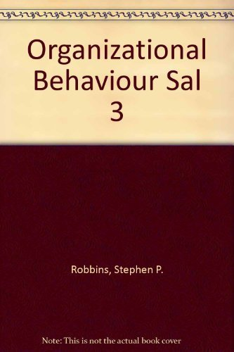 9780131890787: Organizational Behaviour Self Assessment Library Version 3.3