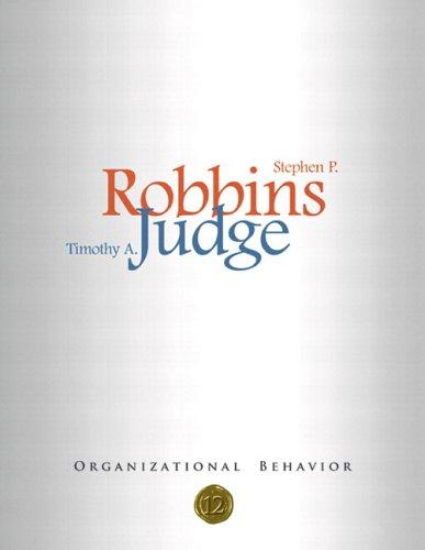 Organizational Behavior, 12th Edition (Book & CD-ROM): Stephen P. Robbins,