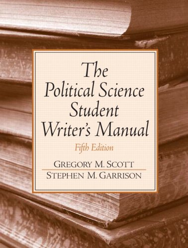 9780131892590: The Political Science Student Writer's Manual