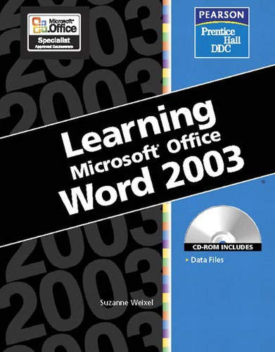 9780131893245: Learning Series (DDC): Learning Microsoft Office, Word 2003