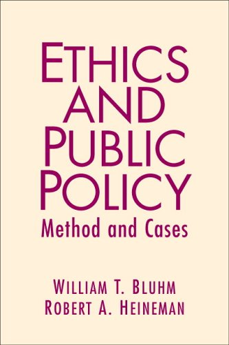 9780131893436: Ethics and Public Policy: Method and Cases