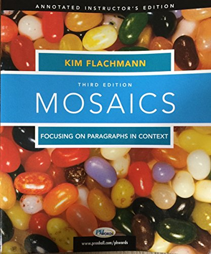 9780131893498: Mosaics, Focusing on Paragraphs in Context (Mosaics (Upper Saddle River, N.J.).)