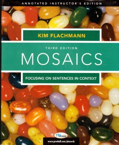9780131893542: Mosaics: Focusing on Sentences in Context