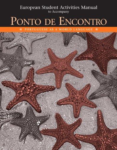 9780131894068: European Student Activities Manual for Ponto de Encontro: Portuguese as a World Language
