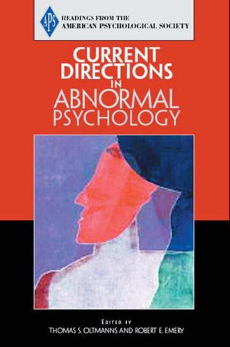 9780131895799: APS: Current Directions in Abnormal Psychology