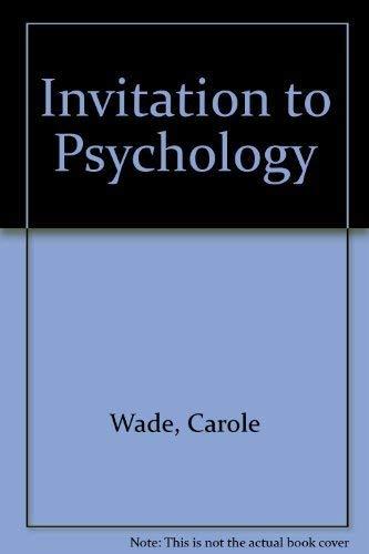 Invitation to Psychology: Carole Wade