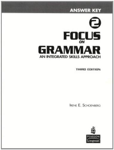 9780131899759: Focus on Grammar 2 Answer Key