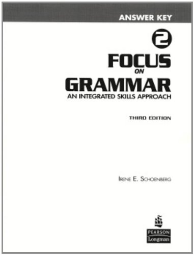 9780131899759: Focus on Grammar 2 Answer Key