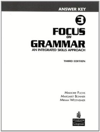9780131899919: Focus on Grammar 3 Answer Key