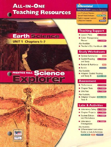All-in-One Teaching Resources Earth Science, Unit 1: Chapters 1-7 (Prentice Hall Science Explorer):...