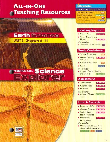 9780131903128: All-In-One Teaching Resources Book Earth Science Unit 2 Chapters 8-11 (Prentice Hall Earth Science)