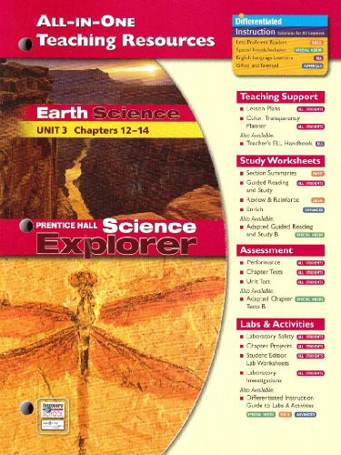 9780131903135: Prentice Hall Science Explorer All-In-One Teaching Resources Earth Science Unit 3 Chapters 12-14