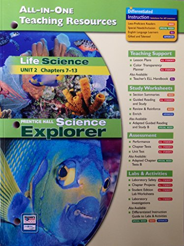 9780131903197: Life Science: All-In-One Teaching Resources (Unit 2 Ch. 7-13)