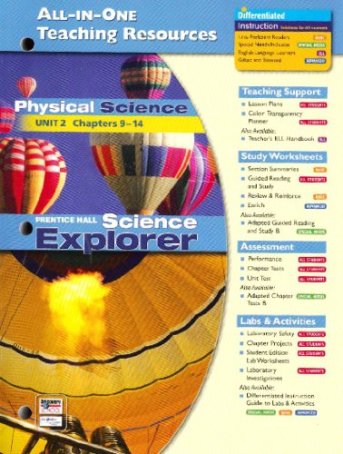 9780131903302: All in One Teaching Resources Physical Science Unit 2 Chapters 9-14 (Science Explorer)