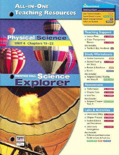 Science Explorer All-in-One Teaching Resources Physical Science: Pearson Education