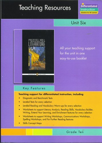 PRENTICE HALL LITERATURE PENGUIN EDITION TEACHING RESOURCES: PRENTICE HALL