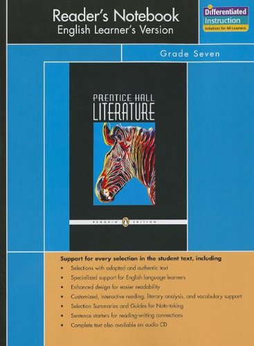9780131907928: PRENTICE HALL LITERATURE PENGUIN EDITION READERS NOTEBOOK ENGLISH       LEARNERS VERSION GRADE 7 2007C