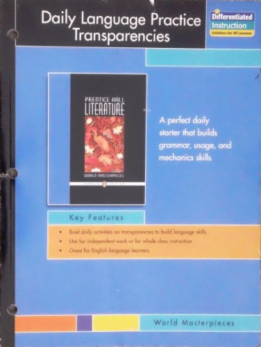 Daily Language Practice Transparencies (World Masterpieces): Prentice Hall Literature/Penguin
