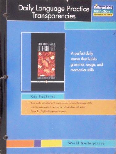 9780131908185: Daily Language Practice Transparencies (World Masterpieces)