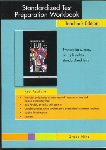 Standardized Test Preparation Workbook, Teacher's Edition, Grade: Prentice Hall