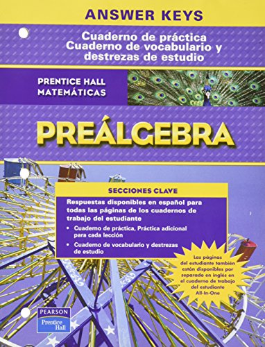 9780131910119: PRENTICE HALL MATH PRE-ALGEBRA SPANISH WORKBOOKS ANSWER KEY 2007C