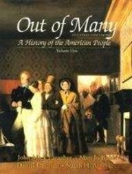 9780131910652: Out of Many: A History of the American People, Volume I