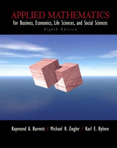 9780131911505: Applied Mathematics for Business, Economics, Life Sciences and Social Sciences