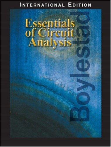 9780131911970: Essentials of Circuit Analysis: International Edition