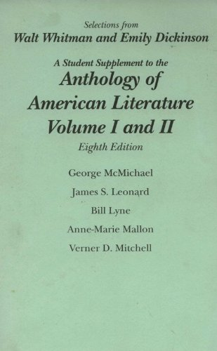 9780131912946: Selections from Walt Whitman and Emily Dickinson (A Student Supplement to the Anthology of American Literature, Volume I and II)